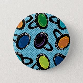 Badge Rond 5 Cm Rétros anneaux d'humeur graphiques