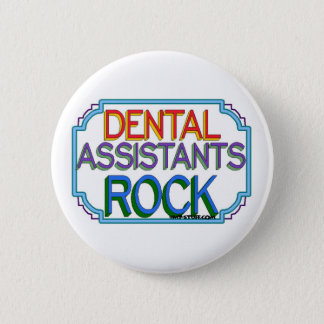 Badge Rond 5 Cm Roche d'assistants dentaires