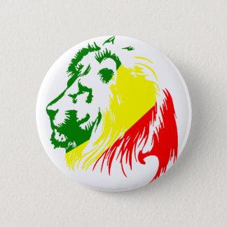 BADGE ROND 5 CM ROI DE LION