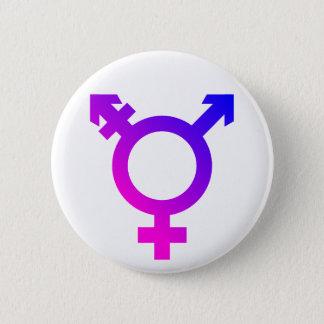 Badge Rond 5 Cm Rose/bleu de symbole de Trans*