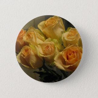 Badge Rond 5 Cm Roses jaunes