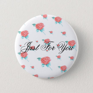 Badge Rond 5 Cm Roses rouges