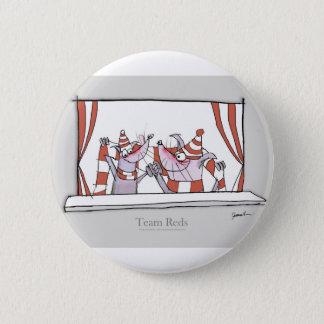 Badge Rond 5 Cm rouges d'équipe de chien du football