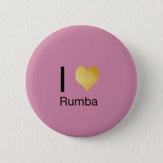 Badge Rond 5 Cm Rumba par espièglerie élégante de coeur d'I