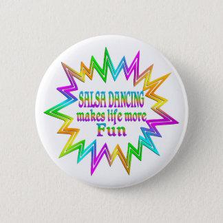 Badge Rond 5 Cm Salsa dansant plus d'amusement