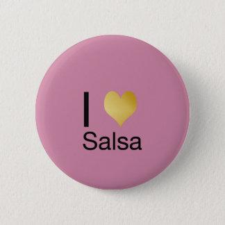 Badge Rond 5 Cm Salsa par espièglerie élégant de coeur d'I