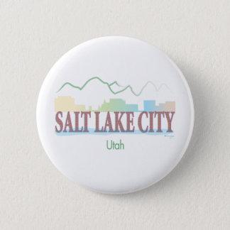 Badge Rond 5 Cm Salt Lake City, Utah