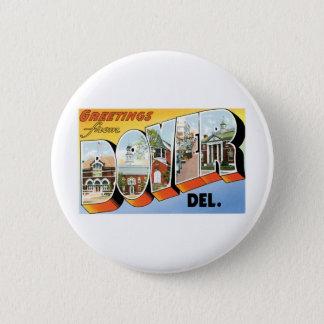 Badge Rond 5 Cm Salutations de Douvres, Delaware