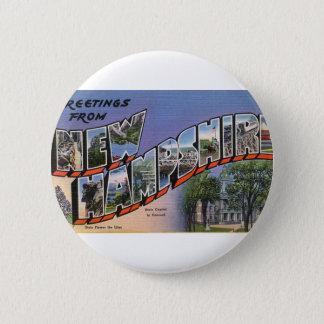 Badge Rond 5 Cm Salutations du New Hampshire