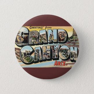 Badge Rond 5 Cm Salutations vintages de voyage de canyon grand