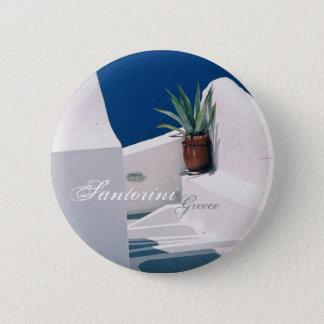 Badge Rond 5 Cm Santorini, bouton de la Grèce