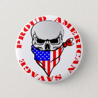 Badge Rond 5 Cm © sauvage américain fier de