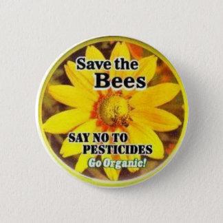 Badge Rond 5 Cm Sauvez le BeesGo organique