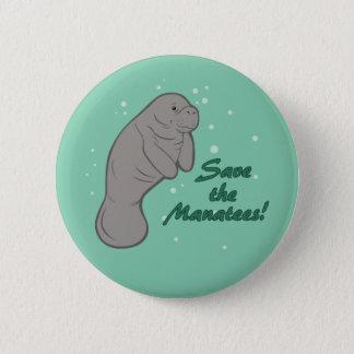 Badge Rond 5 Cm Sauvez les lamantins !