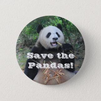 Badge Rond 5 Cm Sauvez les pandas géants