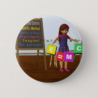 Badge Rond 5 Cm Scientifique d'enfant