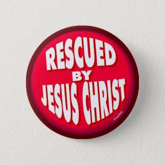 Badge Rond 5 Cm Secouru par Jésus-Christ