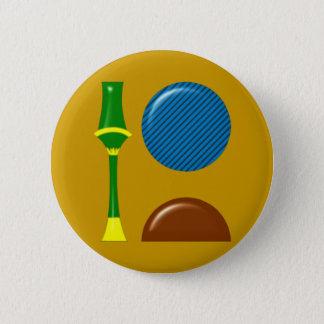 Badge Rond 5 Cm Sekhmet Sachmet Hieroglyphen
