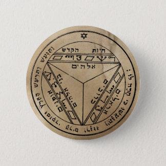 Badge Rond 5 Cm Septième pentagramme de bouton de Saturn