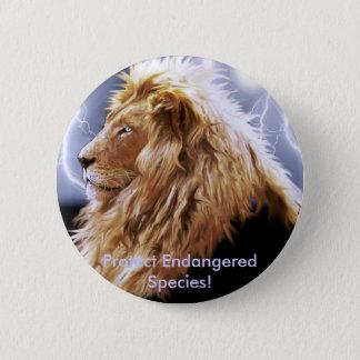 Badge Rond 5 Cm Série d'espèce menacée de GRAND CAT