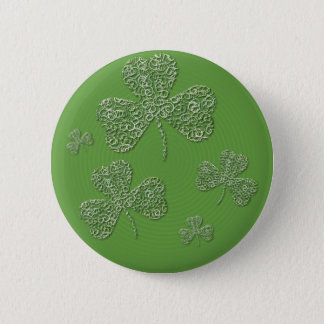 Badge Rond 5 Cm Shamrock - bouton