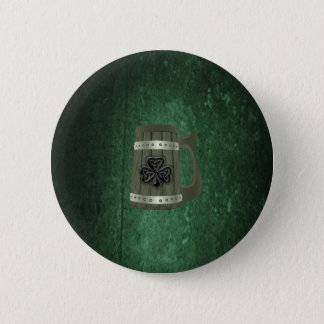 Badge Rond 5 Cm Shamrock chanceux irlandais grunge de tasse de