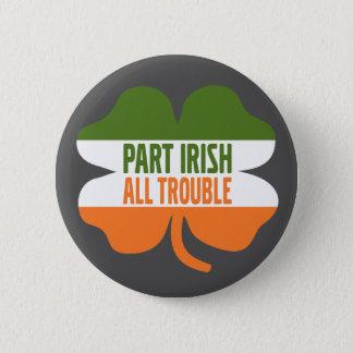 Badge Rond 5 Cm Shamrock de Jour de la Saint Patrick - Irlandais