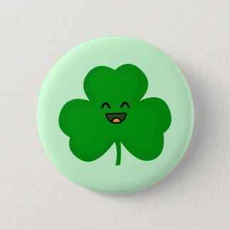 Badge Rond 5 Cm Shamrock heureux
