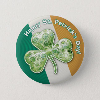 Badge Rond 5 Cm Shamrock mystérieux : Le jour de St Patrick