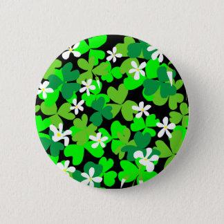 Badge Rond 5 Cm Shamrocks du jour de St Patrick