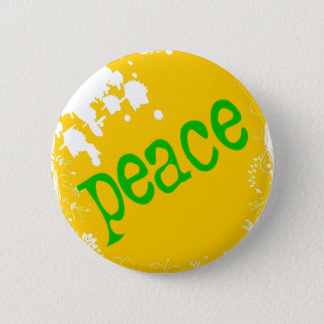 Badge Rond 5 Cm SHIRT_peace_yellow2
