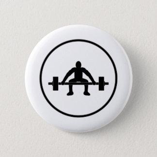 Badge Rond 5 Cm Signe d'ascenseur de poids