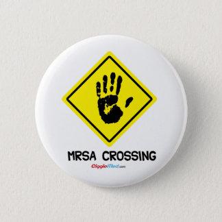 Badge Rond 5 Cm Signe de croisement de MRSA