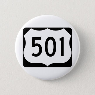 Badge Rond 5 Cm Signe de l'itinéraire 501 des USA