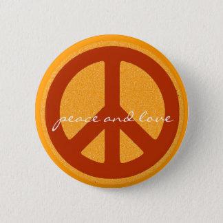 Badge Rond 5 Cm signe de paix, hippies rétros