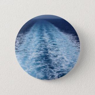 Badge Rond 5 Cm Sillage de bateau de croisière
