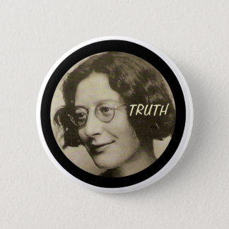 Badge Rond 5 Cm Simone Weil