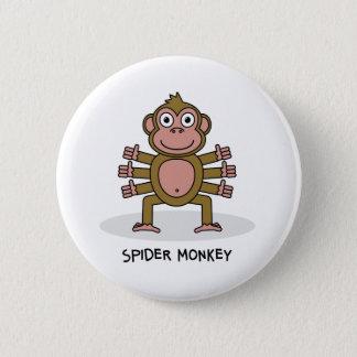 Badge Rond 5 Cm Singe d'araignée