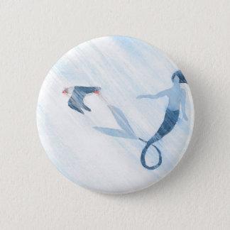 Badge Rond 5 Cm Sirène et macareux