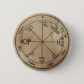 Badge Rond 5 Cm Sixième pentagramme de bouton de Saturn