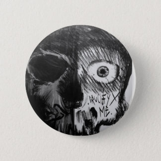 Badge Rond 5 Cm Skull black button