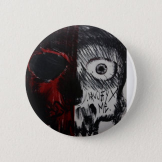 Badge Rond 5 Cm Skull button
