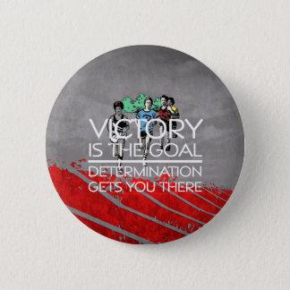 Badge Rond 5 Cm Slogan SUPÉRIEUR de victoire de voie