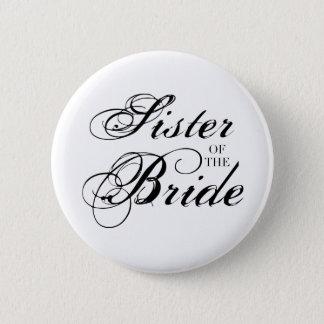 Badge Rond 5 Cm Soeur de fantaisie du noir de jeune mariée