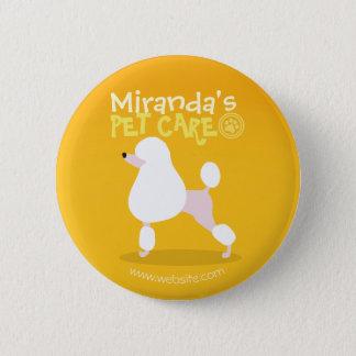 Badge Rond 5 Cm Soin des animaux familiers reposant l'illustration