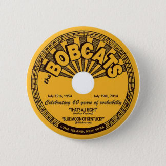 Badge Rond 5 Cm soixantième anniversaire de bouton de rockabilly