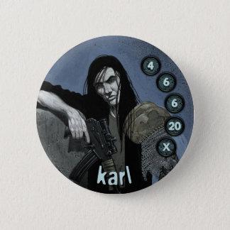 Badge Rond 5 Cm Soldats d'hommes de bouton : Karl
