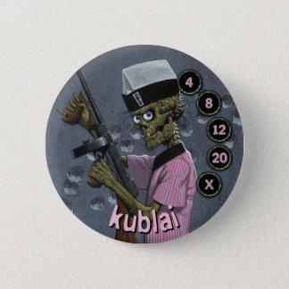 Badge Rond 5 Cm Soldats d'hommes de bouton : Kublai
