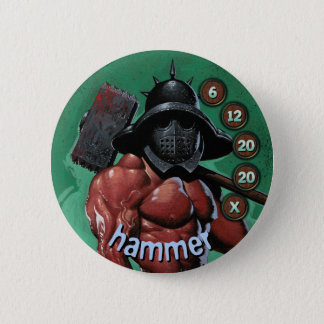Badge Rond 5 Cm Soldats d'hommes de bouton : Marteau