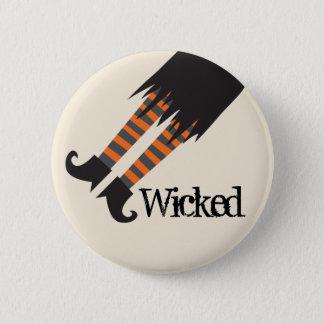 Badge Rond 5 Cm Sorcière mauvaise Halloween drôle